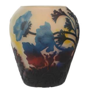 Vase, Muller Fres Luneville French Cameo Art Glass
