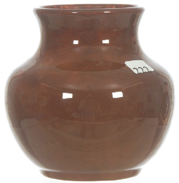 "222: 5 1/2"" MARKED HAMPSHIRE POTTERY VASE"