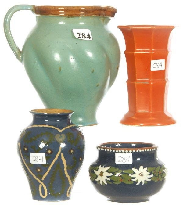 284: (4) SIGNED ANTON LANG POTTERY ITEMS
