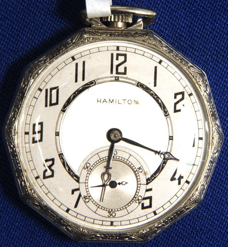 5: 12 SIZE HAMILTON MODEL #912 TEN SIDED CASE POCKET WA