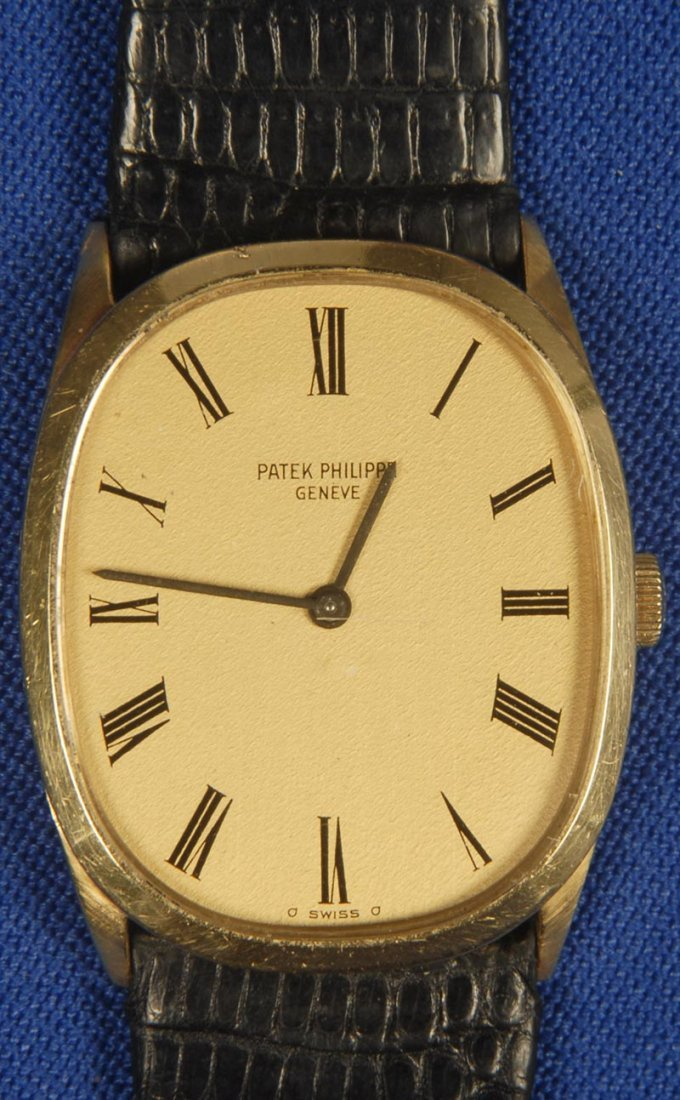 "210: SWISS PATEK PHILIPPE 18KT GOLD ""ELLIPSE"" MENS WRIS"