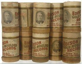 3: (10) ORIGINAL EDISON AMBEROL CYLINDER RECORDS IN CAS