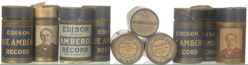 12: (10) ORIGINAL EDISON AMBEROL RECORDS IN CASES W/ LA