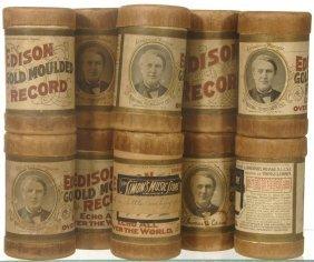 17: (10) ORIGINAL EDISON AMBEROL CYLINDER RECORDS IN CA