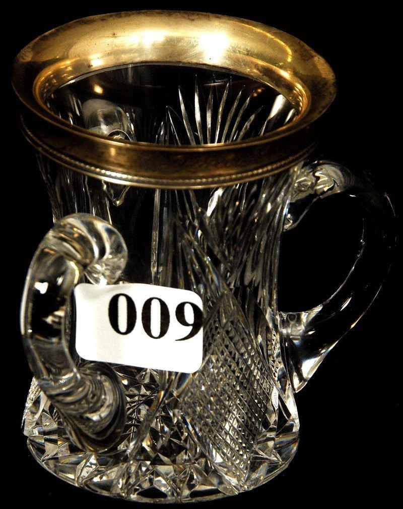 "9: 2 3/4"" AMERICAN BRILLIANT CUT GLASS MINIATURE THREE"