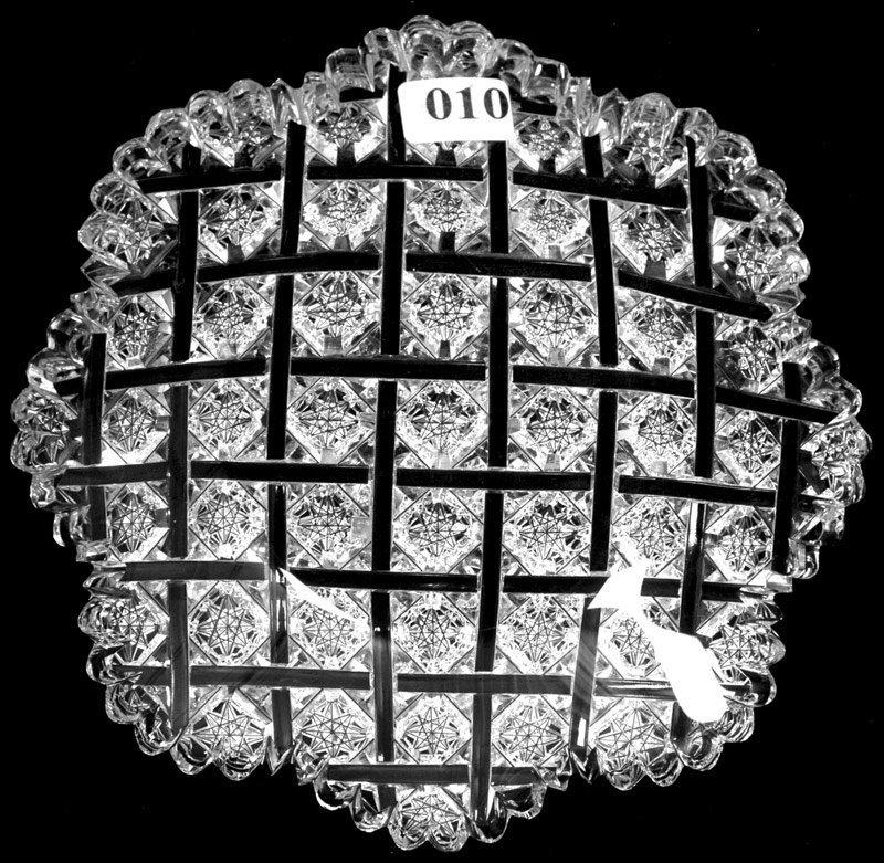 """10: 7"""" SIGNED EGGINTON AMERICAN BRILLIANT CUT GLASS PLA"""