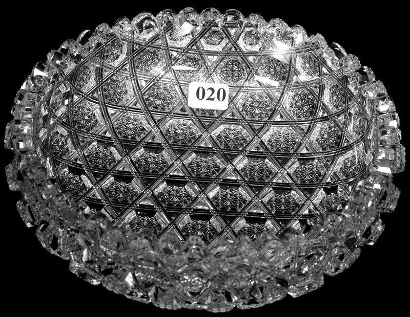 "20: 2 1/2"" X 8"" SIGNED J. HOARE AMERICAN BRILLIANT CUT"