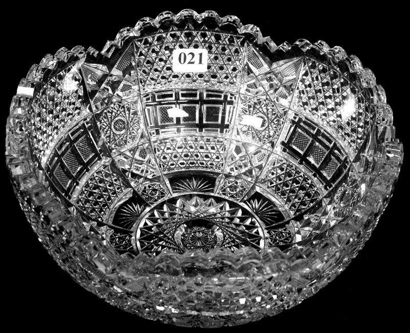 "21: 4"" X 9"" AMERICAN BRILLIANT CUT GLASS BOWL"