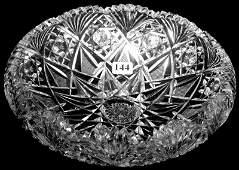 "144: 3"" X 9"" SIGNED HAWKES AMERICAN BRILLIANT CUT GLASS"