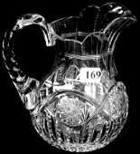 """6"""" AMERICAN BRILLIANT CUT GLASS MILK PITCHER"""