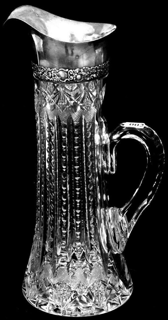 "2: 13 1/4"" AMERICAN BRILLIANT CUT GLASS TALL CHAMPAGNE"