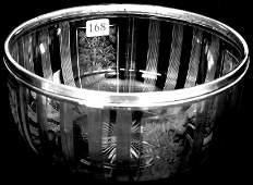 "168: 4"" X 8"" SIGNED HAWKES AMERICAN BRILLIANT CUT GLASS"