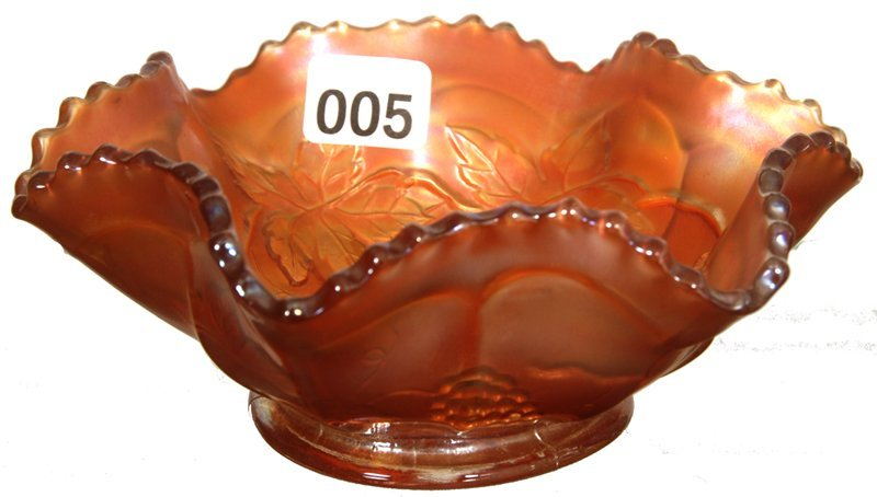 "5 1/2"" CARNIVAL GLASS BERRY DISH"