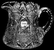 "6"" SIGNED SINCLAIRE AMERICAN BRILLIANT CUT GLASS CIDER"