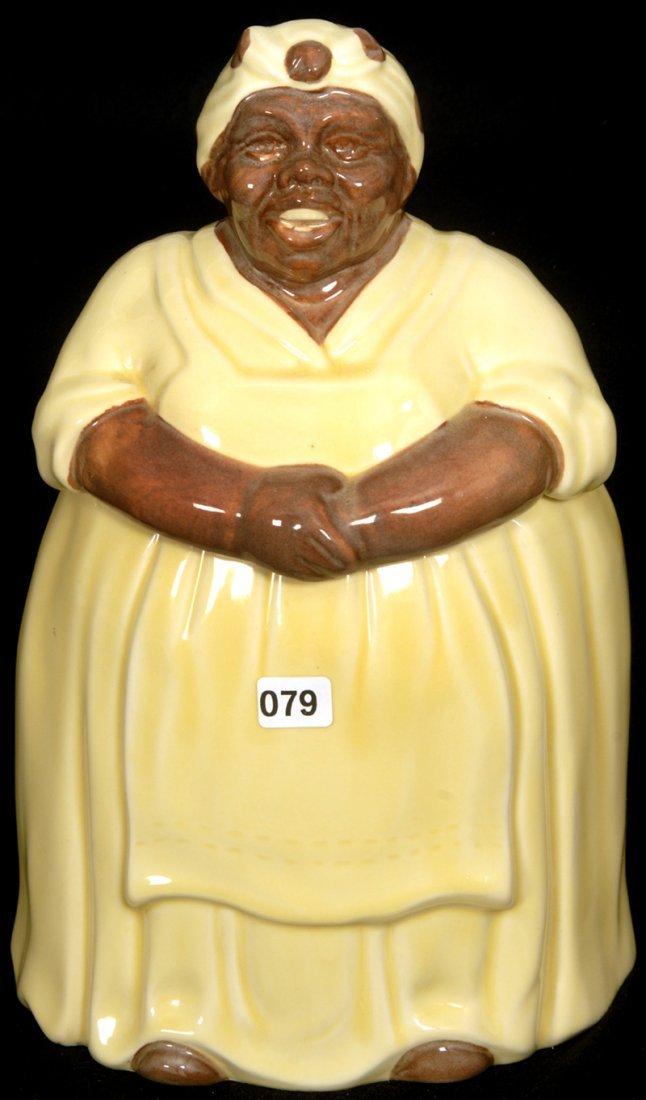 "13 1/4"" BLACK AMERICANA MOSAIC TILE MAMMY COOKIE JAR"