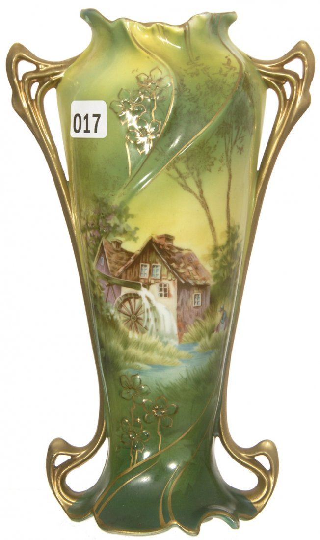 "9"" ROYAL VIENNA TWO HANDLED VASE"