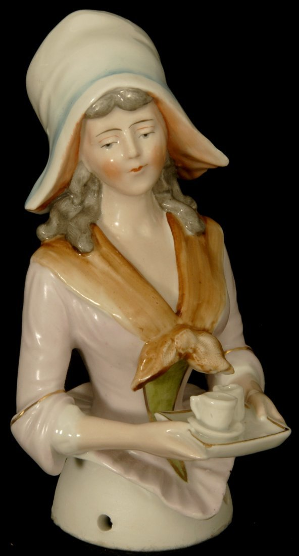 "FINE! 5 1/4"" GERMAN PORCELAIN ""HALF DOLL"" #9193 BY GALL"