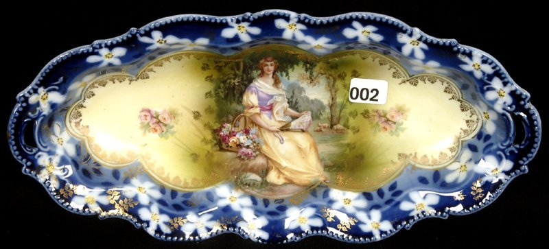 """12"""" UNMARKED PRUSSIA MOLD #343 CELERY TRAY"""