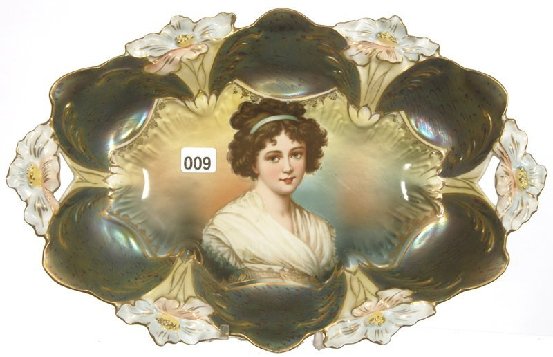 """12 3/4"""" X 8 1/4"""" UNMARKED PRUSSIA LILY MOLD BUN TRAY"""