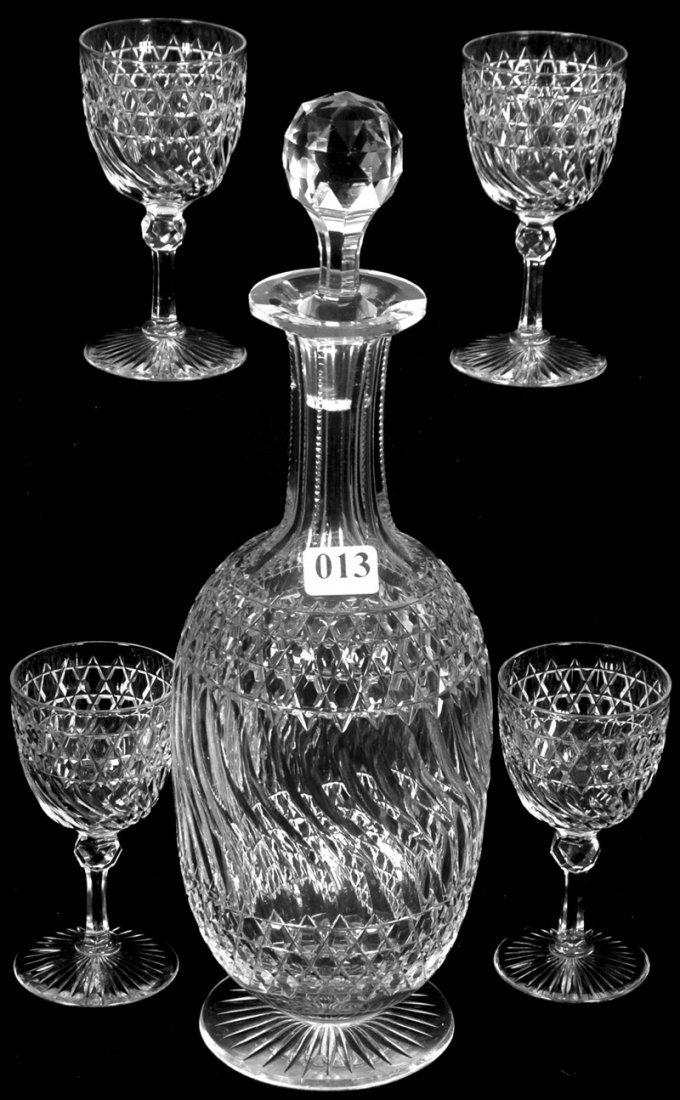 "12 1/4"" AMERICAN BRILLIANT CUT GLASS PEDESTAL DECANTER"