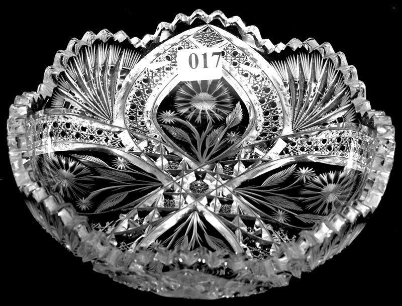 "7"" SIGNED J. HOARE AMERICAN BRILLIANT CUT GLASS BOWL"