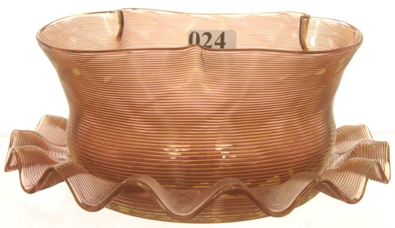 """2 3/4"""" X 6"""" ART GLASS FINGER BOWL AND UNDERPLATE"""