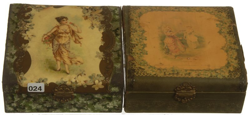 (2) VICTORIAN CELLULOID VANITY BOXES