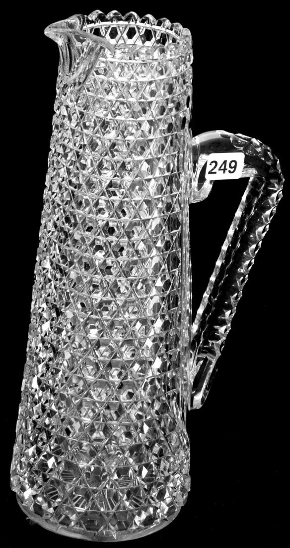 "11 3/4"" AMERICAN BRILLIANT CUT GLASS CHAMPAGNE PITCHER"
