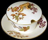 3 12 ROYAL WORCESTER MOLD  2010  SAUCE BOWL AND LID