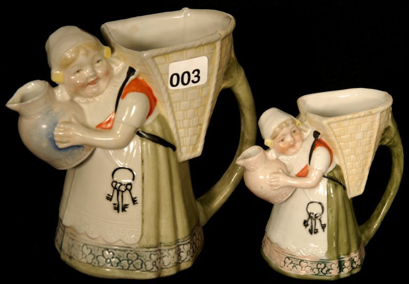 (2) SCHAFER AND VADER FIGURAL PITCHERS