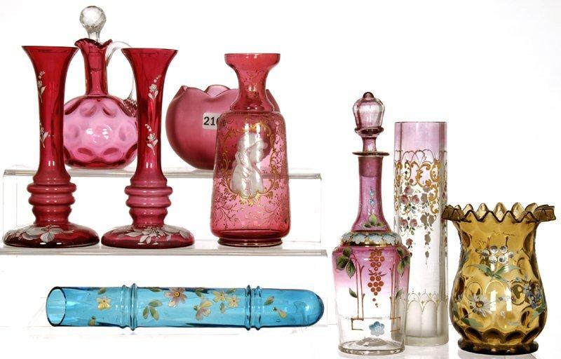 (9) ART GLASS ITEMS
