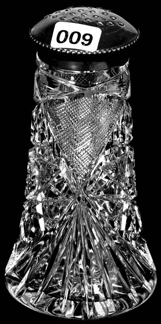 "5 1/4"" AMERICAN BRILLIANT CUT GLASS SUGAR SHAKER"