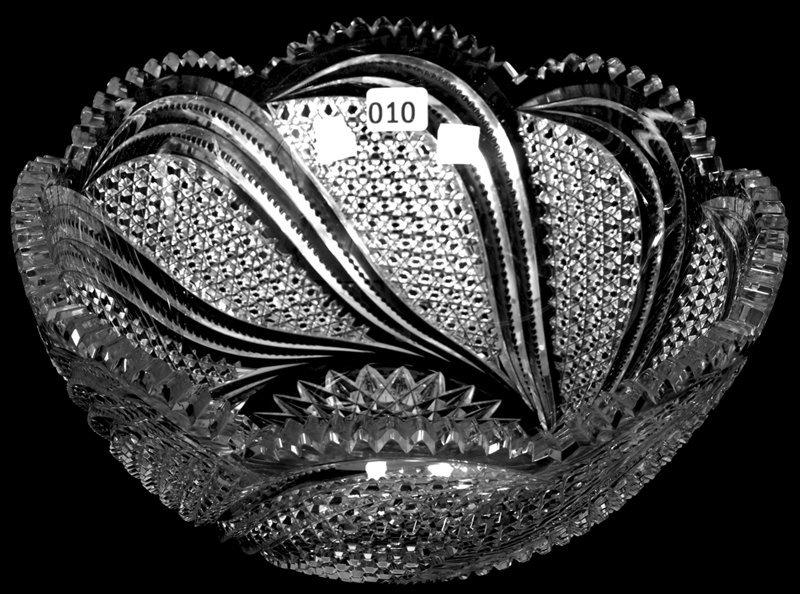 "4 1/2"" X 10"" AMERICAN BRILLIANT CUT GLASS BOWL"