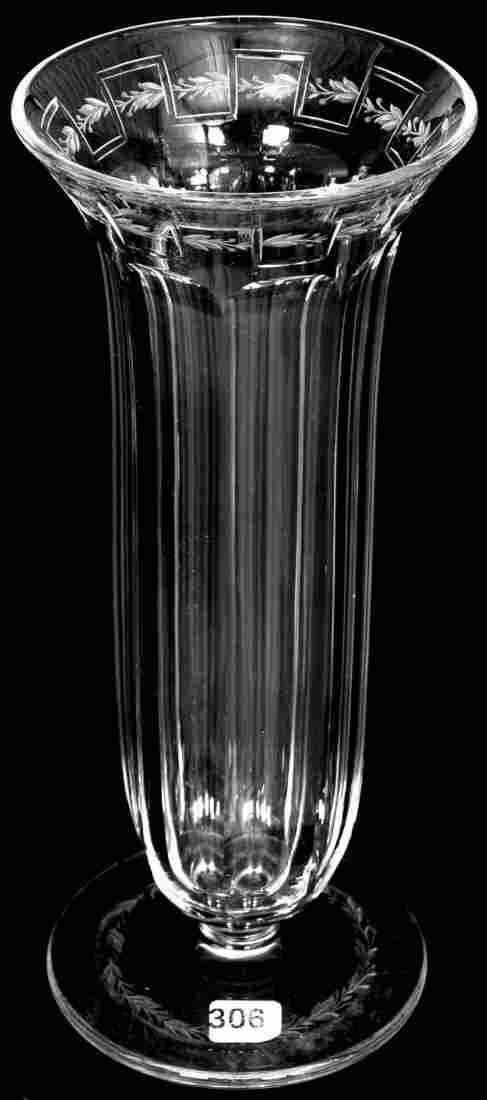 """12"""" SIGNED SINCLAIRE AMERICAN BRILLIANT CUT GLASS"""