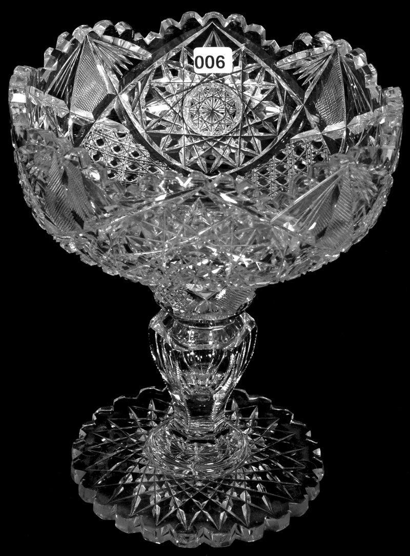 "9 3/4"" X 8"" AMERICAN BRILLIANT CUT GLASS TWO-PART"