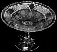 "6 1/4"" X 9"" SIGNED HAWKES AMERICAN BRILLIANT CUT GLASS"