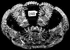 "2 1/4"" X 7"" SIGNED HAWKES AMERICAN BRILLIANT CUT GLASS"