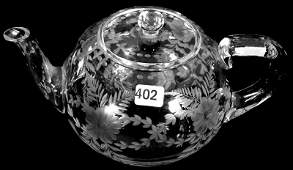 "5"" X 9"" SIGNED SINCLAIRE AMERICAN BRILLIANT CUT GLASS"
