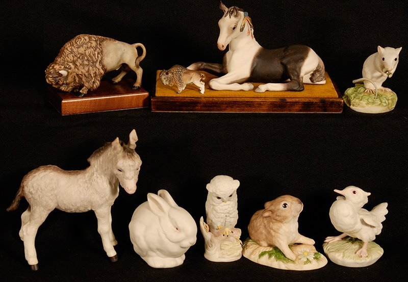BOXED LOT - (8)  CYBIS FIGURINES