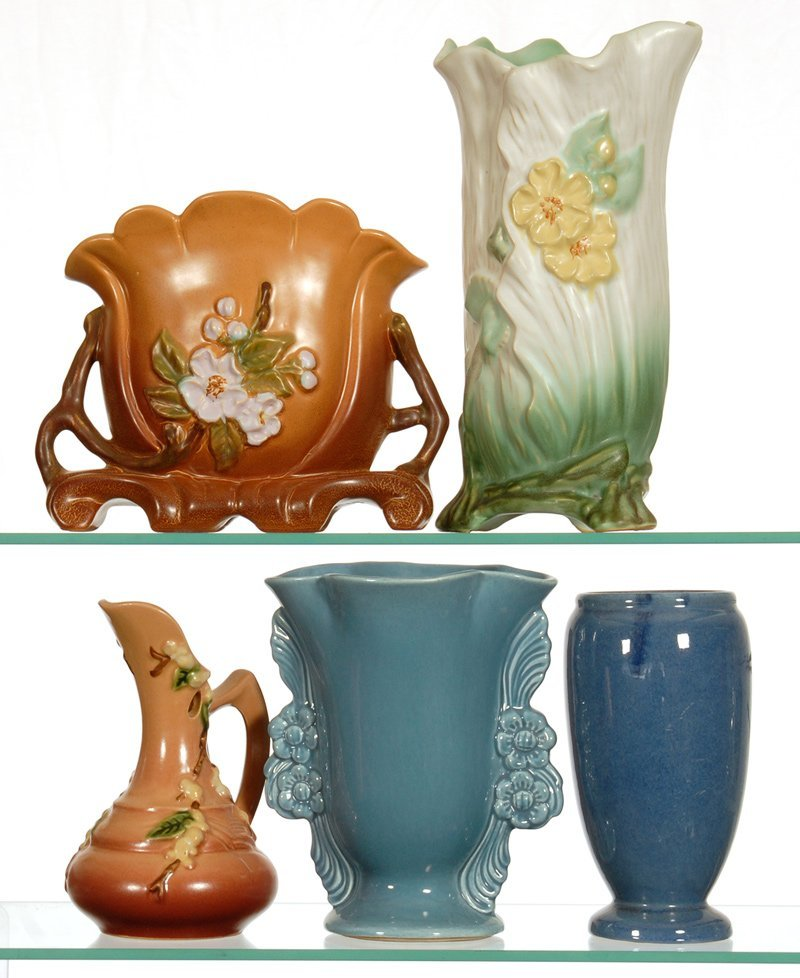 BOXED LOT - (5) AMERICAN POTTERY ITEMS