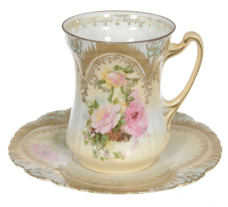 RSP ICICLE MOLD CUP AND SAUCER