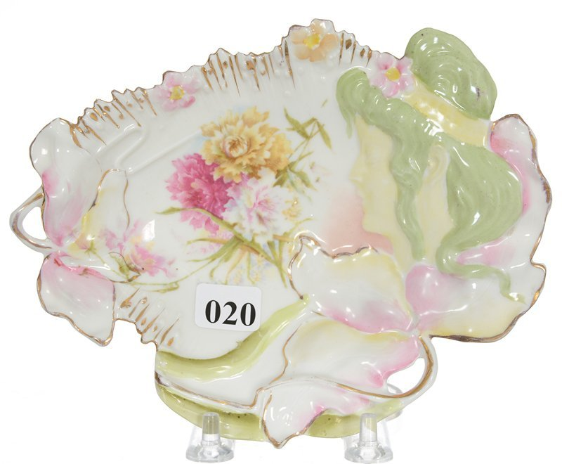 """7"""" UNMARKED PRUSSIA HIDDEN IMAGE MOLD PIN TRAY"""