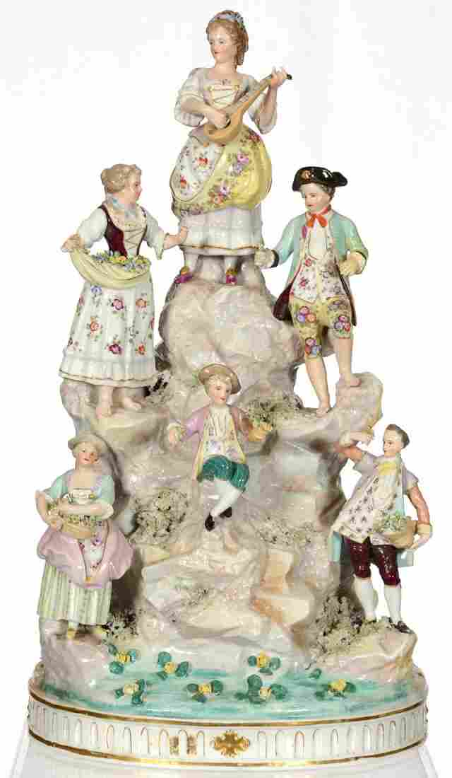 """21"""" FRENCH PORCELAIN GROUP"""