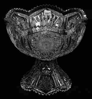 """PUNCH BOWL, TWO PART, 9 1/4"""" X 10"""", ABCG"""