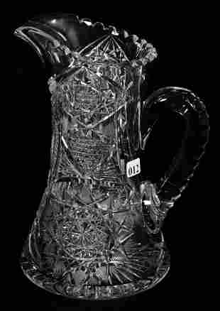 """WATER PITCHER, 10 1/2"""", ABCG, SIGNED J. HOARE, PATTERN"""