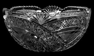 """PUNCH BOWL, ONE PART, 6 3/4"""" X 14"""", ABCG"""