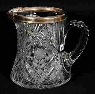 """LARGE CIDER PITCHER, CORSET SHAPED, 7 3/4"""", ABCG,"""