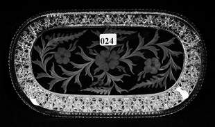 """TRAY, OVAL, 10 1/4"""", ABCG, SIGNED TUTHILL"""