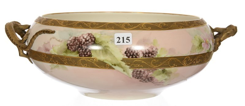 """4 1/2"""" X 13 1/2"""" MARKED WILLETS BELLEEK TWO HANDLED"""