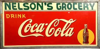 36 X 72 COCACOLA GROCERY STORE SIGN